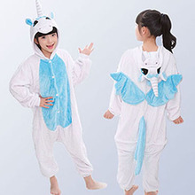 Kids Animal Stars Unicorn Pajamas For Boys Girls Flannel Cartoon Children Sleepwear Cute Hooded Pijamas Onesies for 3 5 7 9 11Y