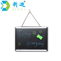 XINDI New Magnetic Blackboard MDF Black White Wooden Frame ChalkBoard 25 35cm Home Decorative Message Board