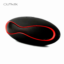 OUTMIX Mini Bluetooth Speaker Portable Wireless Speaker Sound System 3D Stereo Music Surround TF USB Super Bass For phone pc edifier e25hd heavy bass multimedia speaker with enhanced sound for laptop pc computer system 3d stereo music mini speaker