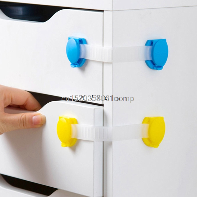 4Pcs Plastic Baby Safety Protection Child Locks Cabinet Door Baby Security Lock #K4UE# Drop Ship