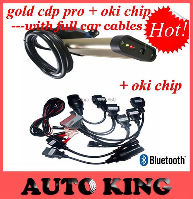 Real con El Mejor Chip de Oki insertar más fuerte! funciona bien oro bluetooth TCS CDP pro con cables Del Coche Completo 8 unids --- DHL LIBERA el ENVÍO!