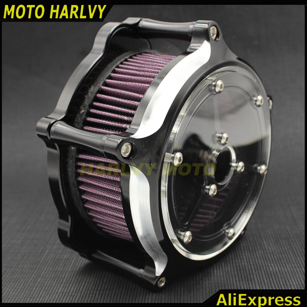 US $101 0 |Motorcycle CNC Crafts Air Cleaner Intake Transparent Filter Kit  For Harley Sportster 883 1200 48-in Air Filters & Systems from Automobiles