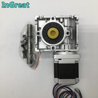 Nema23 Stepper Motor w/Worm Gearbox RV030 Speed Reducer 14mm Output 3A 56MM 1.2NM 172Oz in Kit Convert 90 Degree for CNC Router