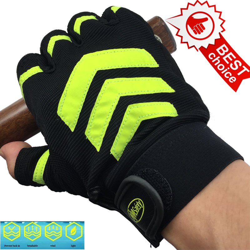 NMSAFETY Anti-slip Cycling Gloves Gel Padding Bike Gloves Sports Half Finger Sport Gloves luva fitness guantes racmmer cycling gloves guantes ciclismo non slip breathable mens