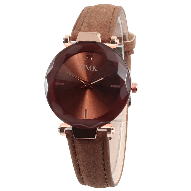 CMK New Simple Fashion Shiny Women Watches Luxury Leather Strap Ladies Casual Quartz Watch Men Hour Clock Wristwatch Reloj Mujer