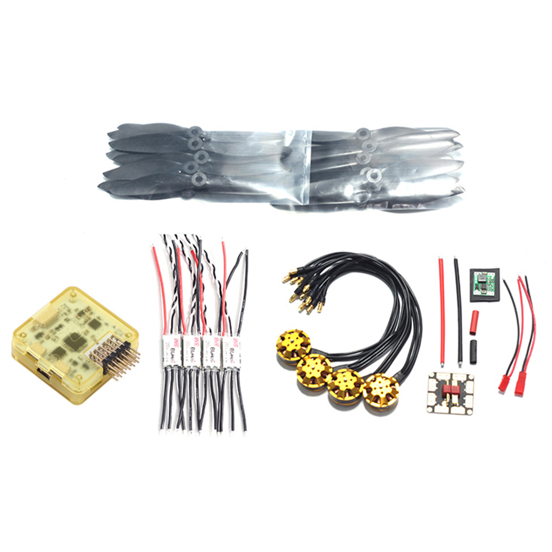 medium resolution of cc3d flight controller 2204 2400kv motor 6040 propeller blhli 20a esc 5v step down module 35 35 lay plate 14awg silicon cable in drone accessories kits