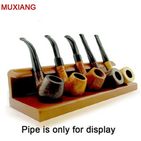 Muxiang pijp accessoires massief hout een-stukken verticale type 5 pijp rekken houten pijp stands houder aliexpress fa0004