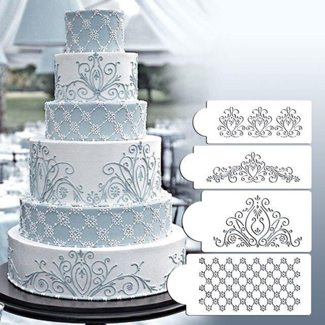 princess lace cake stencil set wedding cake cookie border.html