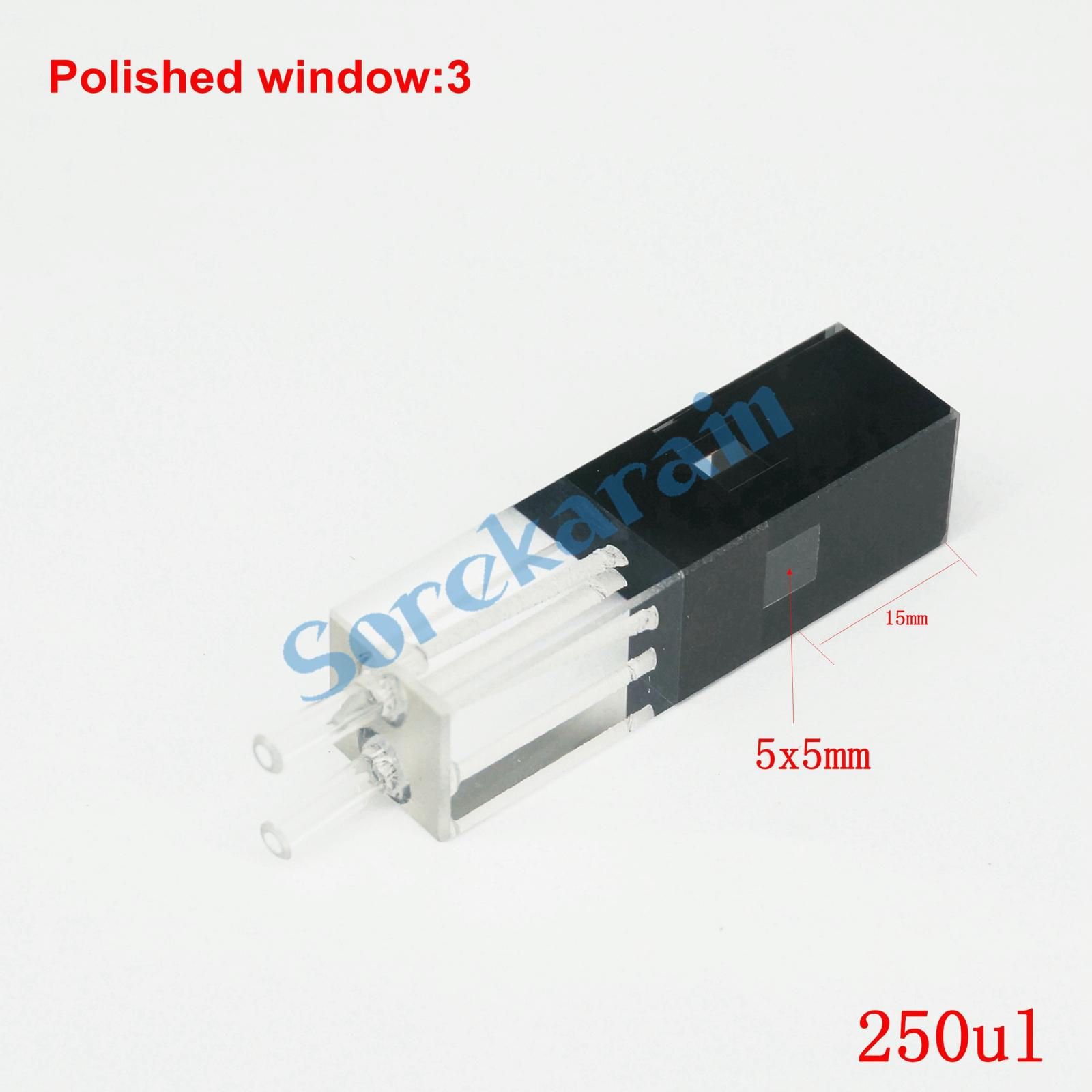 250ul 10mm Path Length JGS1 Quartz Fluorescence Flow Cuvette With Glass Tube250ul 10mm Path Length JGS1 Quartz Fluorescence Flow Cuvette With Glass Tube