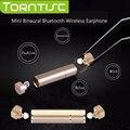 Torntisc Mini Binaural Auriculares Bluetooth 4.1 Auriculares de Música Estéreo Inalámbrico Deportes Gemelos con 10 BT Distancia