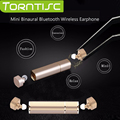 Torntisc Mini Binaural Fones de Ouvido Bluetooth 4.1 Sem Fio Fone de Ouvido Estéreo Música Esportes Gêmeos com 10 BT Distância