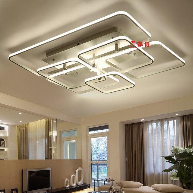 US $147.58 22% OFF|Super dünne Circel Moderne Ringe LED Decke Kronleuchter  Lampe Wohnzimmer Schlafzimmer Moderne LED Decke Kronleuchter Leuchten in ...