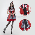 (whole set) Circus Clown dress Role-playing Game Nightclub Magician adults Party Masquerade Performance cosplay costume