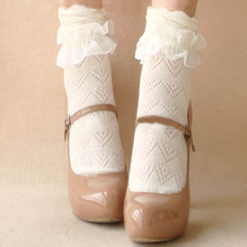 Girls White Dress Socks Promotion-Shop for Promotional Girls White ...