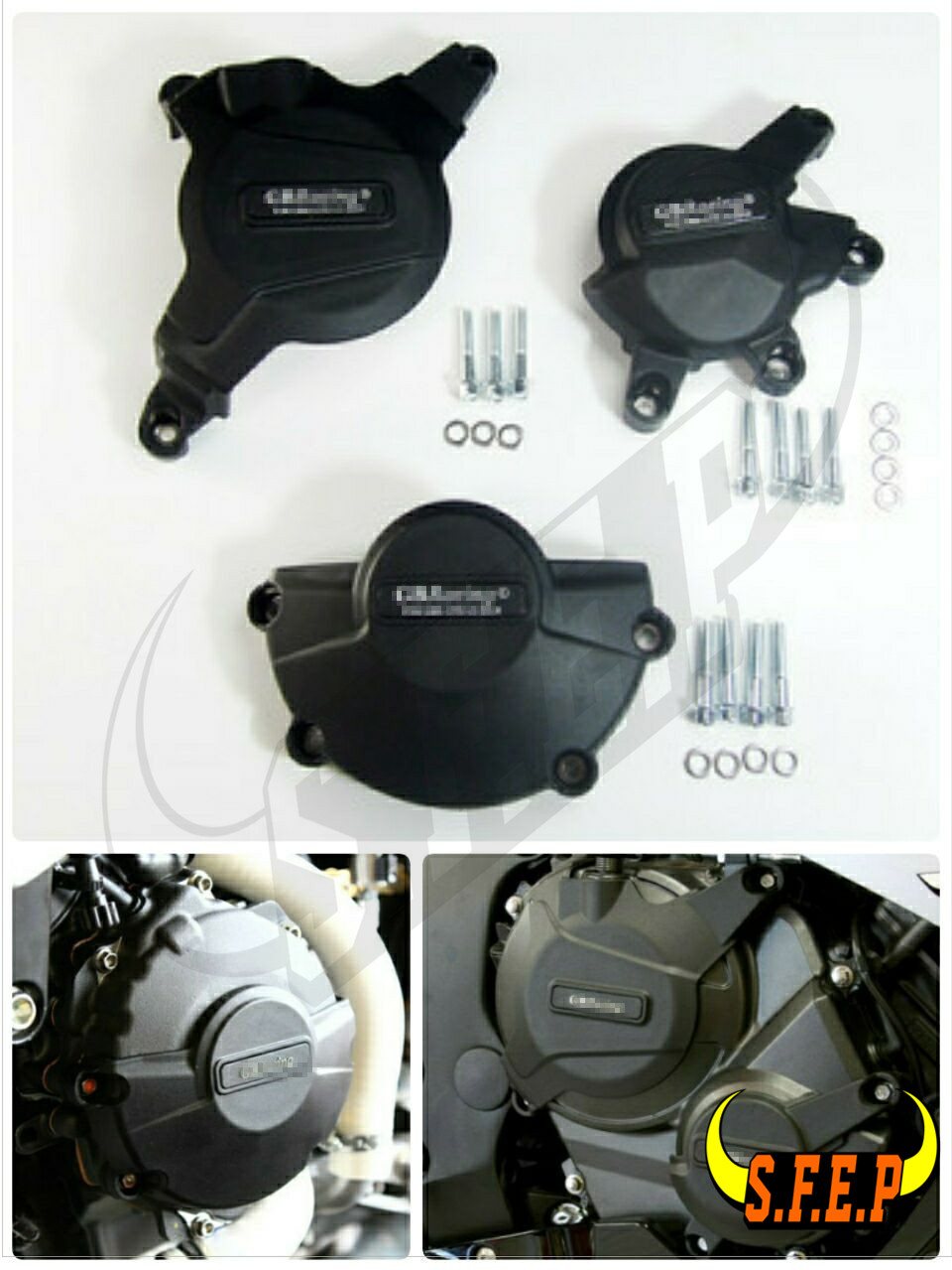 Motorcycle Engine Case Guard Protector Cover GB Racing For Honda CBR600RR 2007 2008 2009 2010 2011