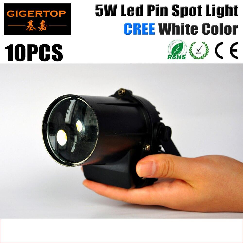 10Pcs/Lot  5W Cree LED Pin Spot Light,90V-240V LED Rain Light For Party Wedding Light Small Pinspot Light Beam Effect 5W White good quality 4pcs lot 5w cree led