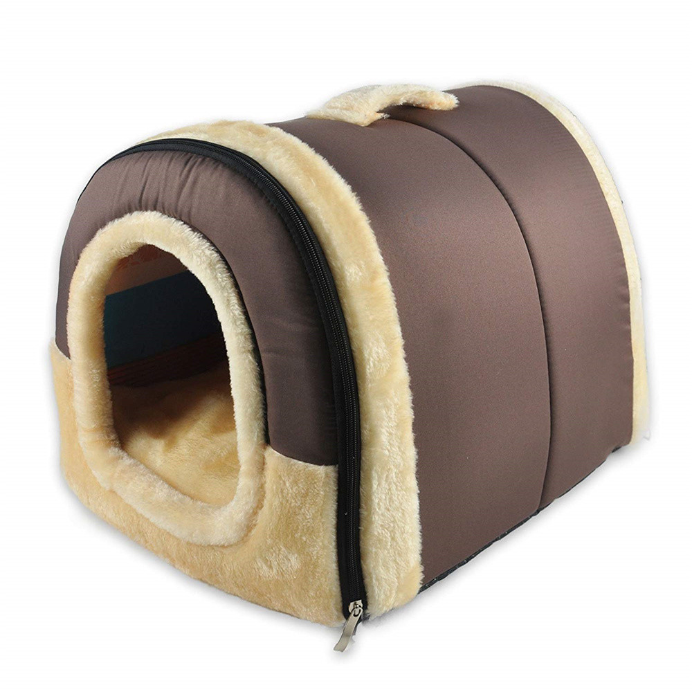 Us 15 7 37 Off Soft Warm Dog Houses Bedding Doghouse Dogs Live Cave Couch Crate Cushion Sleeping Beds For Small Medium Large In