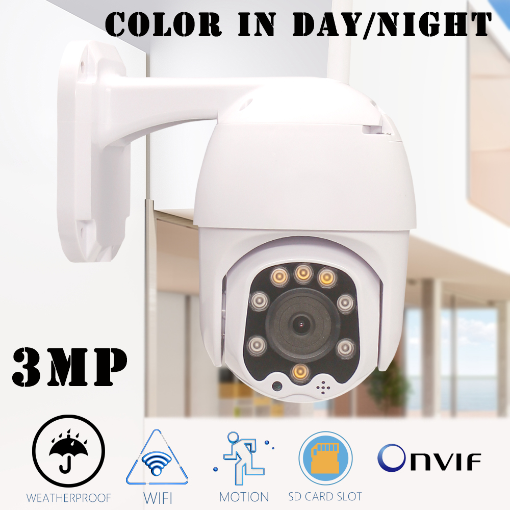 CTVMAN PTZ IP Camera 4X Zoom Wifi Cameras Outdoor HD 3MP Infrared/Color Night Vision Onvif Audio Wireless Surveillance Dome CamCTVMAN PTZ IP Camera 4X Zoom Wifi Cameras Outdoor HD 3MP Infrared/Color Night Vision Onvif Audio Wireless Surveillance Dome Cam