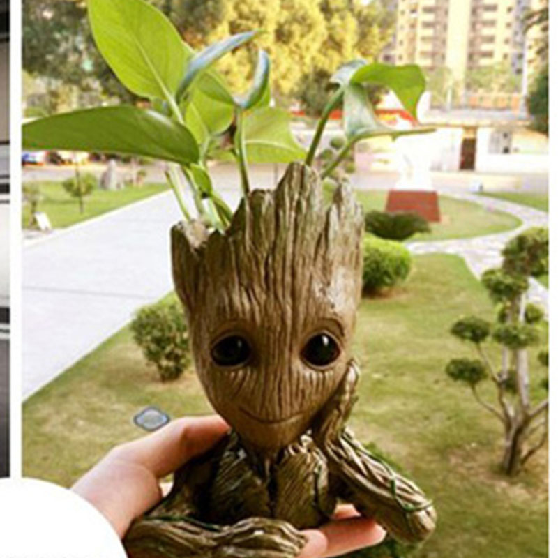 Tree Man Baby Action Figure Hero Model Baby Movie Guardians of The Galaxy 2 Flower Pot Toy Desk Decoration Gifts for Kid 0