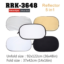 Falcon Eyes 36x 48 92x122cm 5 in 1 Portable Collapsible Oval Light Photography Reflector for Studio Multi Photo Disc RRK-3648