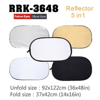 Falcon Eyes 36x 48 92x122cm 5 in 1 Portable Collapsible Oval Light Photography Reflector for Studio Multi Photo Disc RRK 3648