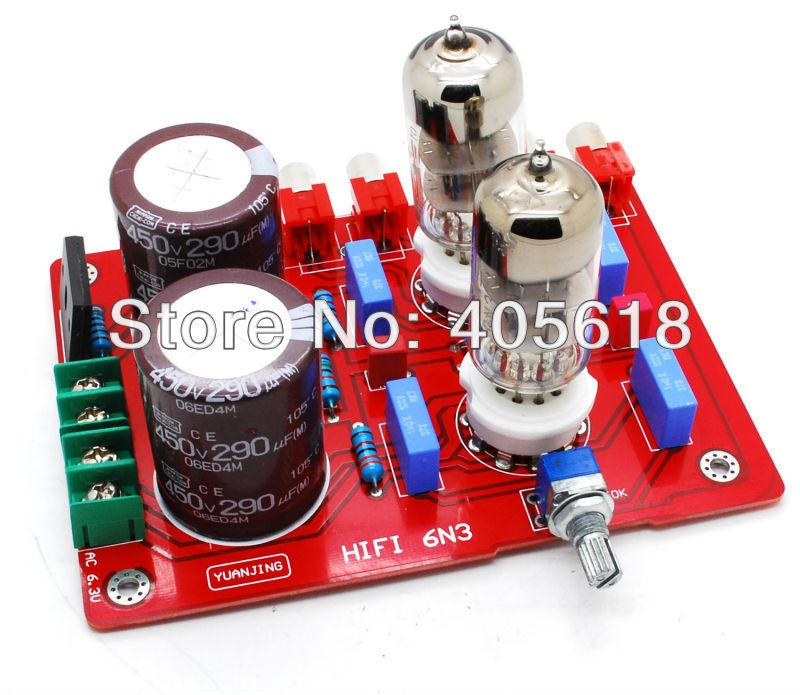 Buffer 6N3 Tube power Pre-amplifier board 450V/220UF 450v