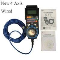 SHINA Upgrade 4/6 Axis Mach3 5M Wired USB HandWheel Pulse 100PPR Optical Encoder Generator MPG Pendant CNC Control