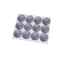 10pack/lot Gray Thank You Round Cake Sticker Various Gift Box Stickers Decoration Baked Goods Package