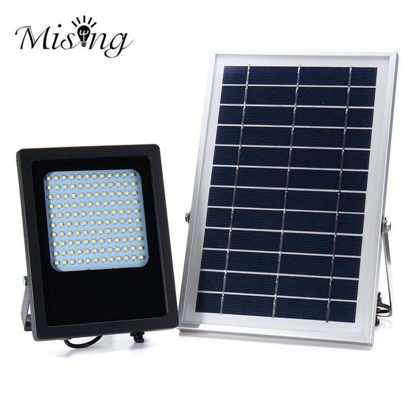 Mising Waterproof 3528 SMD 15W 120 LED Solar Powered Panel Motion Sensor LED Floodlight Night Sensor Outdoor Garden Light brelong 15w smd 3528 led panel light