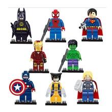 Avengers Marvel DC Super Hero Mini Building Blocks Bricks Kids Toys Superman Batman Movie Spiderman Compatible with Legoes
