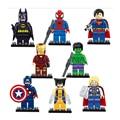 Vengadores marvel dc super hero star wars mini bloques de construcción ladrillos niños juguetes película spiderman superman batman legoes compatible