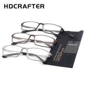 Image 5 - HDCRAFTER lunettes légères TR90, monture 17g pour la myopie et lhypermétropie, Prescription, montures pour lunettes de lecture transparentes pour hommes