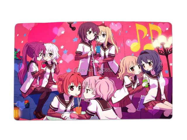 YuruYuri Happy Go Lily Anime Characters Desk Mouse Pad Table Play Mat Group