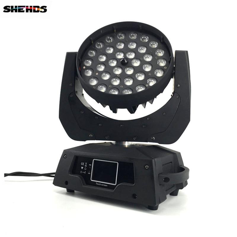 2 шт/комплект светодиодный зум мыть 36X18 Вт RGBWA + УФ Цвет DMX Сенсорный экран, светодиодный перемещение головы мыть свет хорошо для DJ