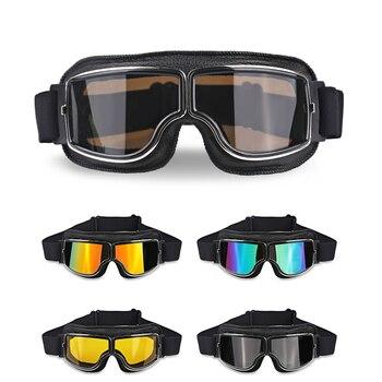 1 шт. мотоциклетные винтажные очки универсальные мотоциклетные скутеры байкерские очки шлем очки 5 видов цветов
