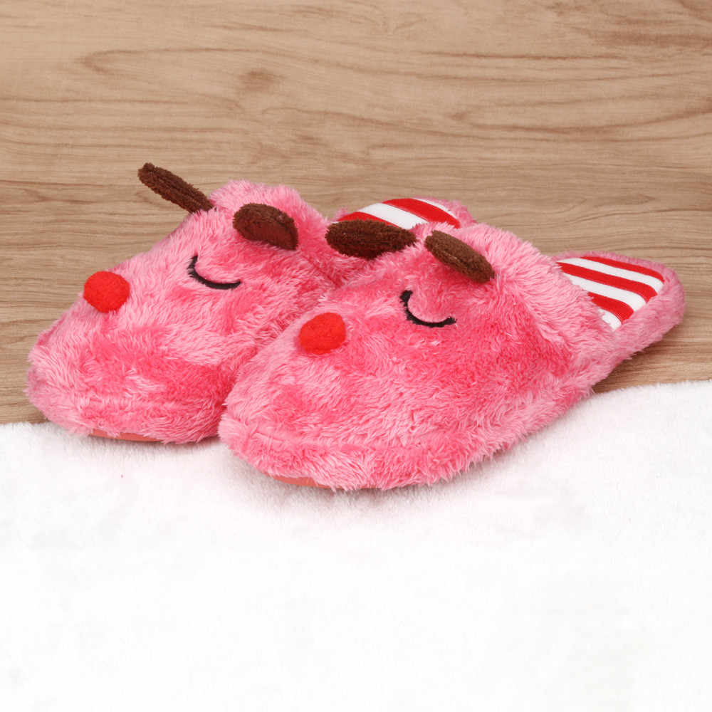 e33a32c53 Sleeper #5002 Women Soft Warm Indoor Bowknot Cotton Slippers Home Anti-slip  Shoes for