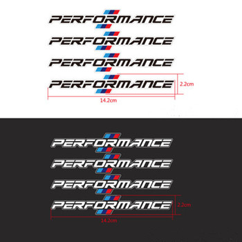 4PCS/LOT 2018 Car Styling Car Door Handle Car Stickers Performance Decoration For bmw f30 f34 f10 e46 e39 e60 e90 e70 e71 x5 x6 image