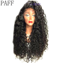 180% Densit Kinky Curly Lace Front Wig Peruvian Remy Glueless Human Hair Wig With Baby Hair Free Part Natural Hairline 36C