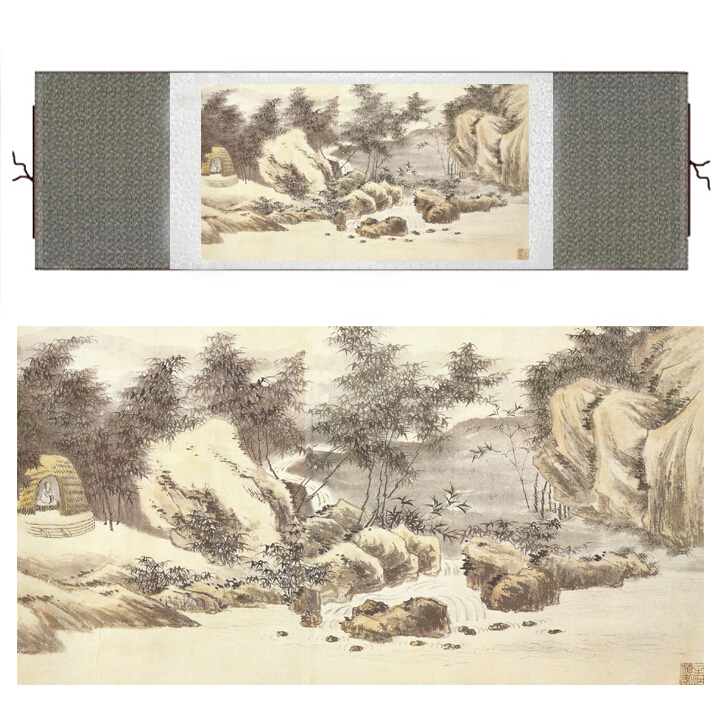 Mountain and River art painting Chinese traditional landscape painting Ink wash picture