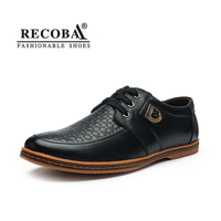 Men S Brand Genuine Leather Lace Up Breathable Flats Low Top Handmade Casual Shoes Plus Size