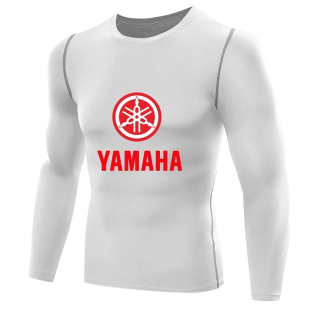 15f4a139bc Yamaha tshirt para homens Camisa De Compressão de mangas compridas masculino  Rápida Camada de Base seca
