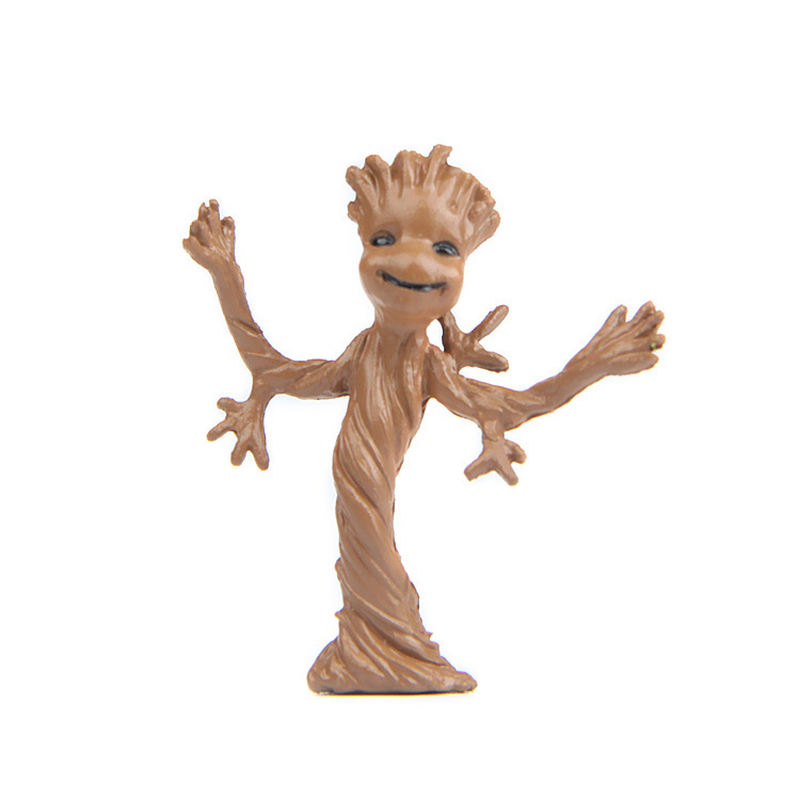 3.7cm Tree Man Micro landscape Action Figures Guardians of Galaxy 2 Doll Grunt Baby Cute Model Toy Best Gifts for Kids