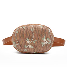 Womens Belt Bag Hand Embroidery Straw PE Fanny Pack Bananka  For The Satchel Women Catwalk Belly Band Waist