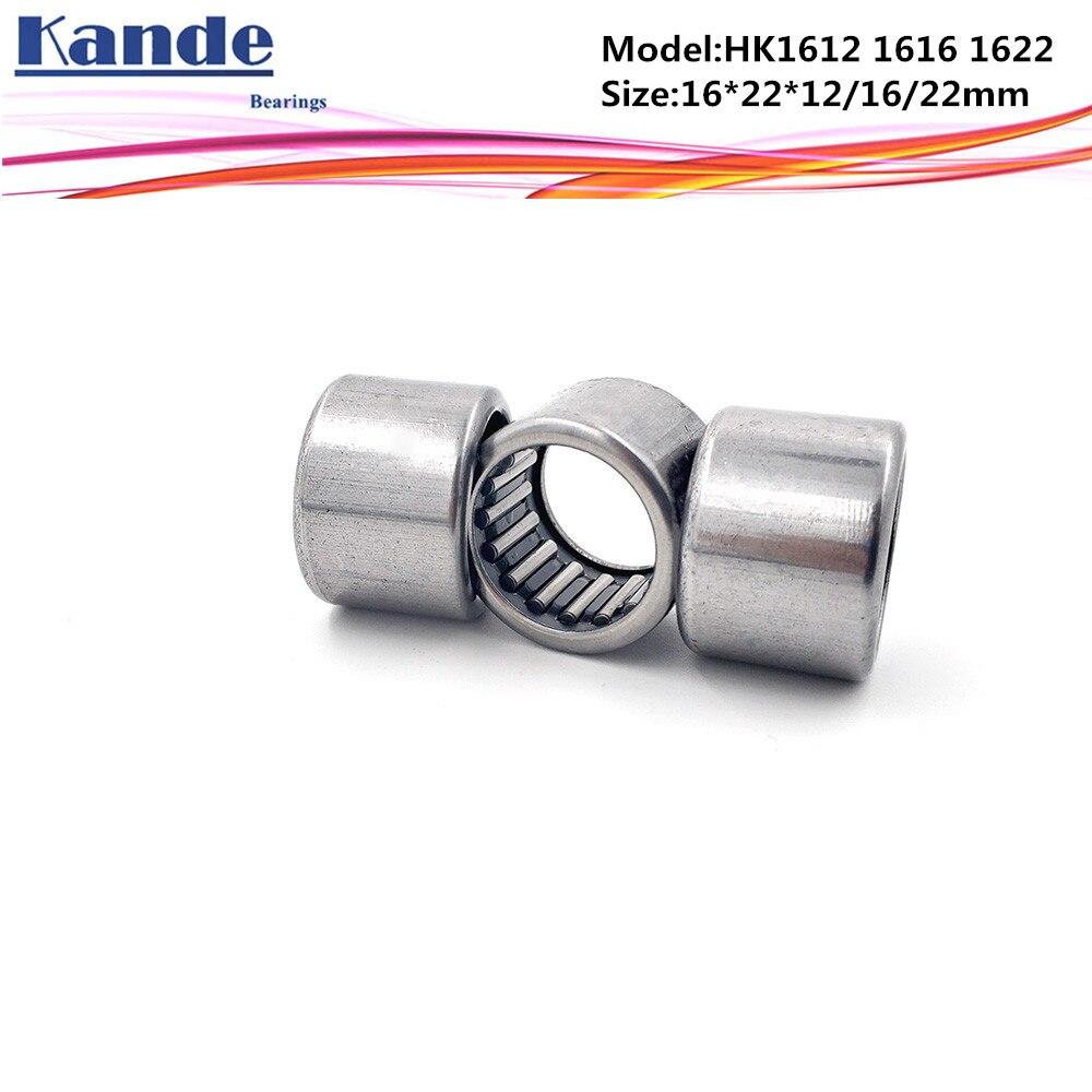 2 PCS HK1612 HK162212 16x22x12 mm Metal Needle Roller Bearing Bearings