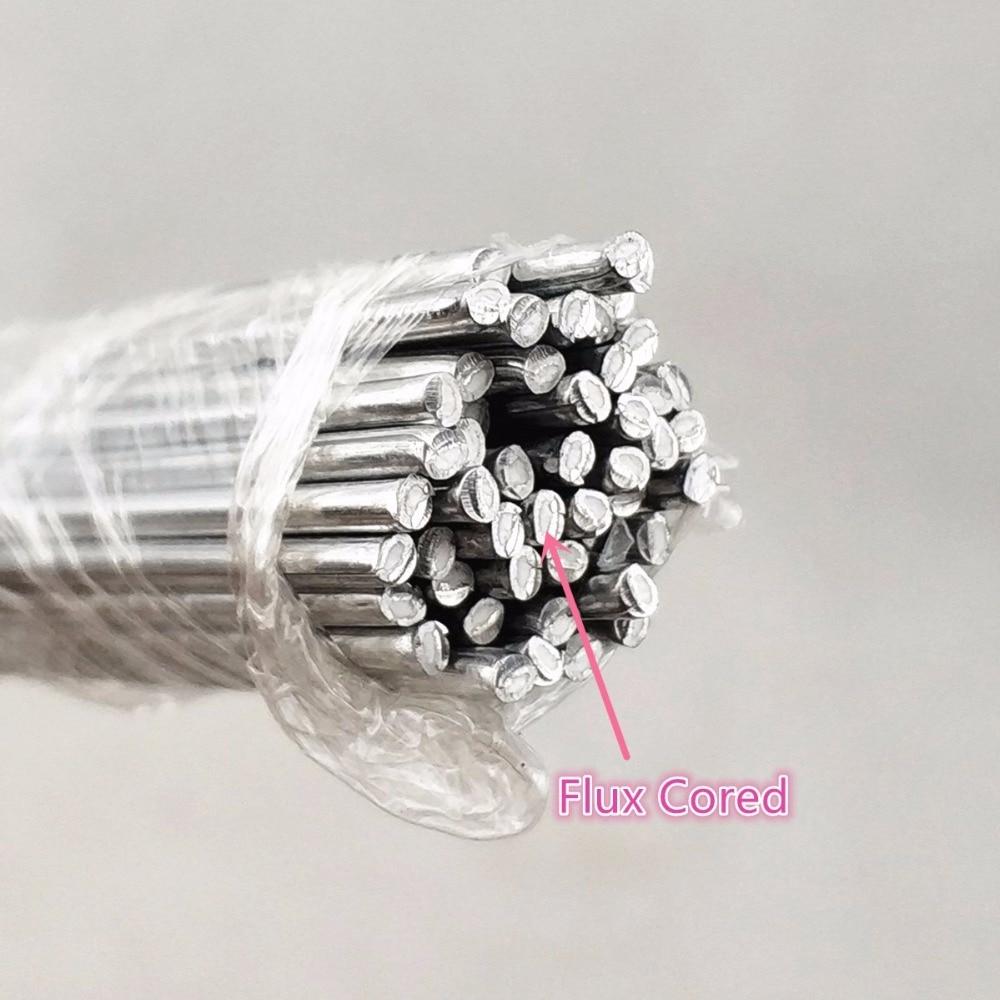 Aluminum Welding Electrodes Flux Cored Low Temperature Brazing Wire 500x2.0mm Air Condition Aluminum Repairing Welding Rods