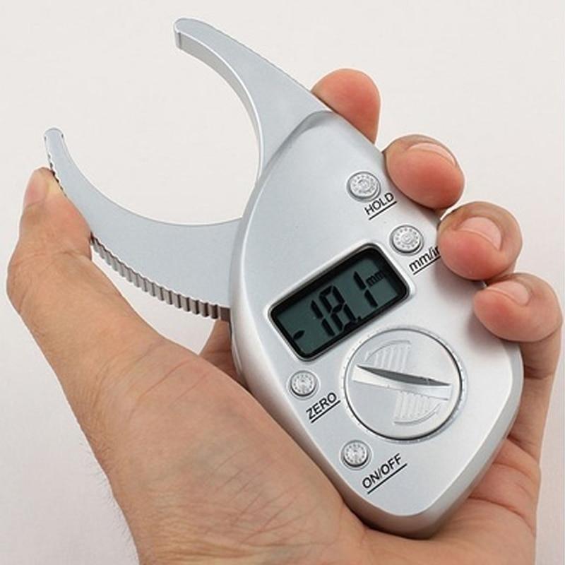 Digital Body Fat Caliper Calculator Skin Fold Analyzer LCD Display Measuring ...
