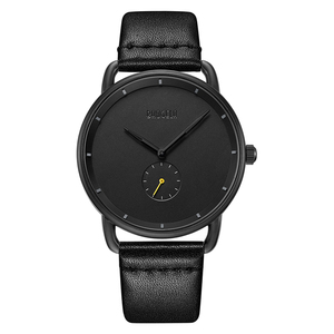 Image 2 - BAOGELA Merk Horloges voor Mannen Lederen Band Casual Business Kleine Seconden Quartz 30 m Waterdicht Mannen Kijken Relogio Masculino 2019