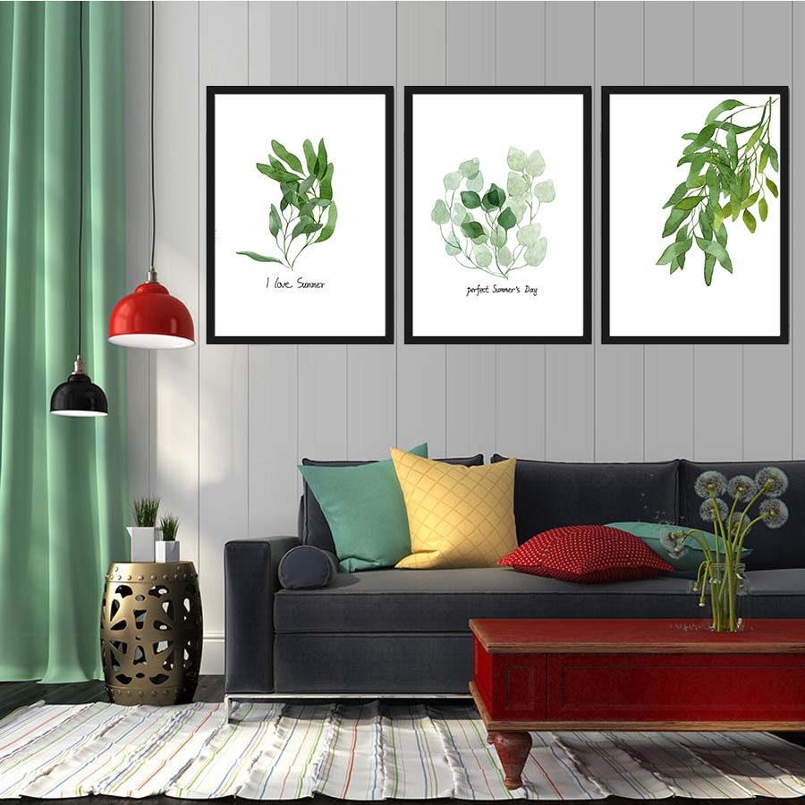 Watercolor Tropical Leaf Canvas Art Print Painting Poster Wall Pictures For  Living Room Wall Decoration HomeCompare