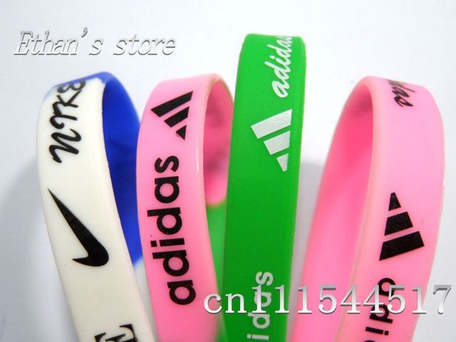 Free Shipping Men's SPORT Wristbands Silicone Bracelets  for collection Mix color