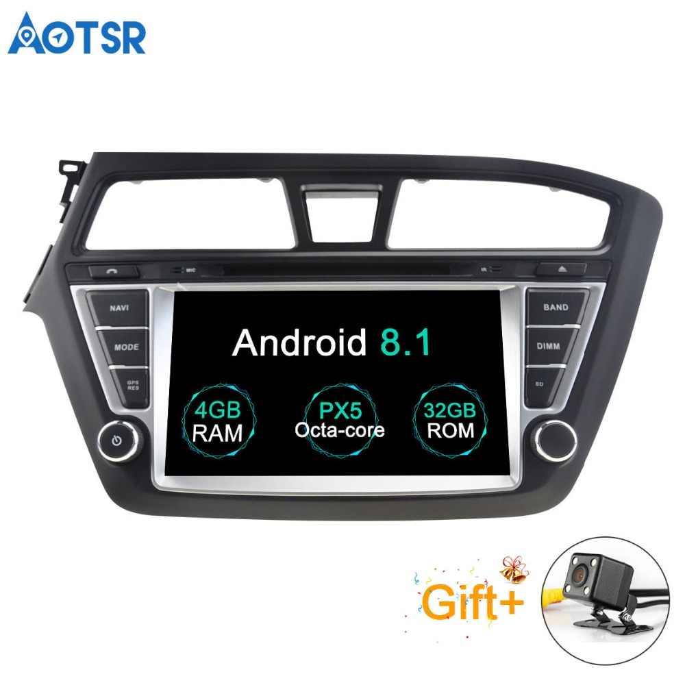 Aotsr أندرويد 8.1 لتحديد المواقع والملاحة سيارة مشغل ديفيدي لشركة هيونداي I20 2014-2017 الوسائط المتعددة 2 الدين راديو مسجل 4GB + 32GB 2GB + 16GB